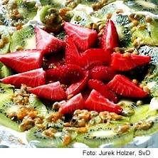 Pavlova med passionsfrukt