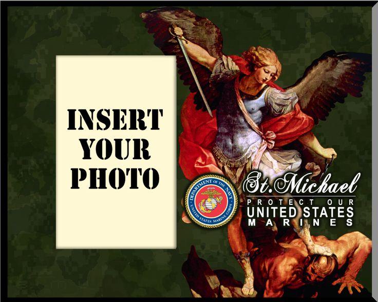marine st michael photo frame