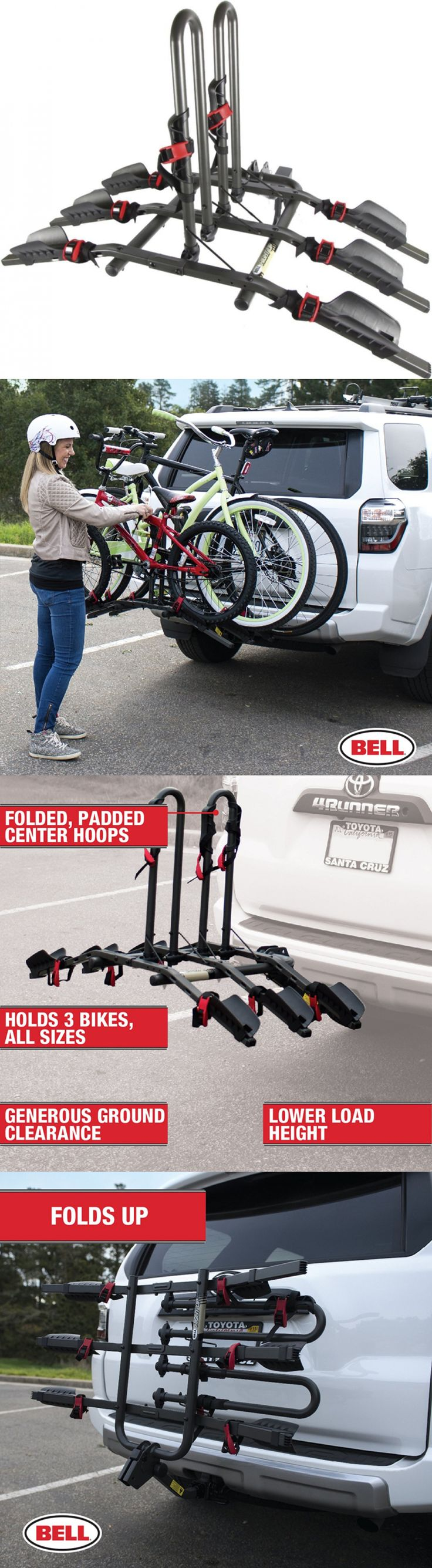 Car and Truck Racks 177849: New Bell Rightup 3 Bike Bicycle Platform Hitch Rack Sports 1.25 Or 2 Receivers -> BUY IT NOW ONLY: $151.22 on eBay!
