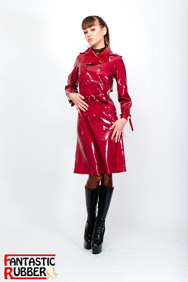 Latex Trenchcoat rot Fantastic Rubber