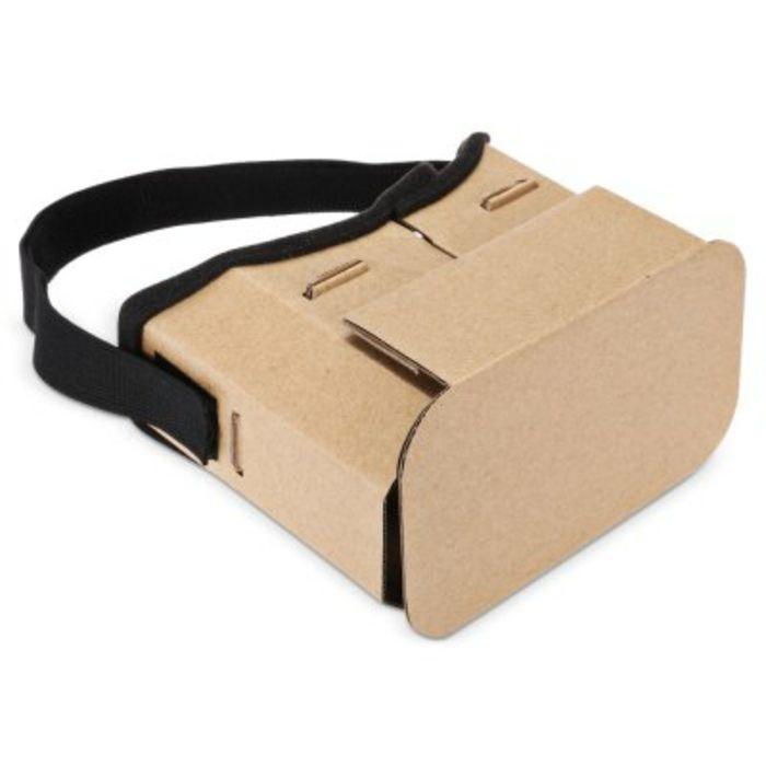 vr brille aus pappe und mit einem schwarzen gummiband   vr brille selber bauen