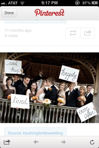 Cute wedding pic ideas