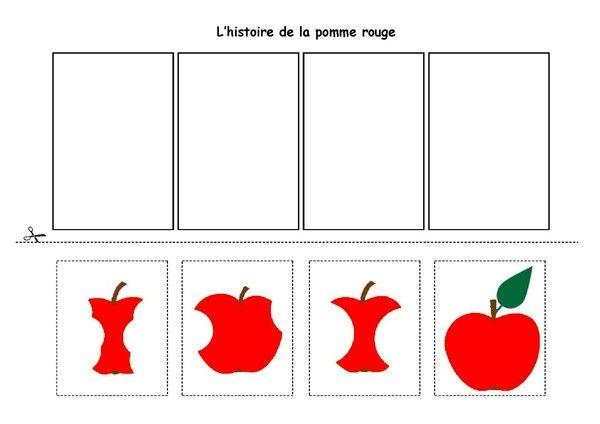 Fiche d'activités - Images séquentielles - L'histoire de la pomme rouge