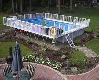 Square Above Ground Pool 168 best above ground swimming pools images on pinterest