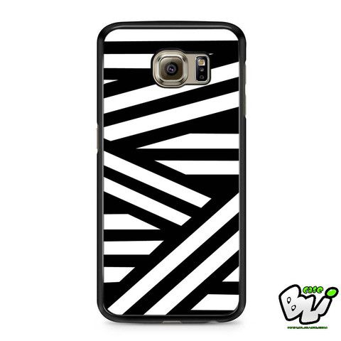 Black White Stripes Line Geometric Samsung Galaxy S7 Case