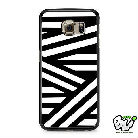 Black White Stripes Line Geometric Samsung Galaxy S6 Case