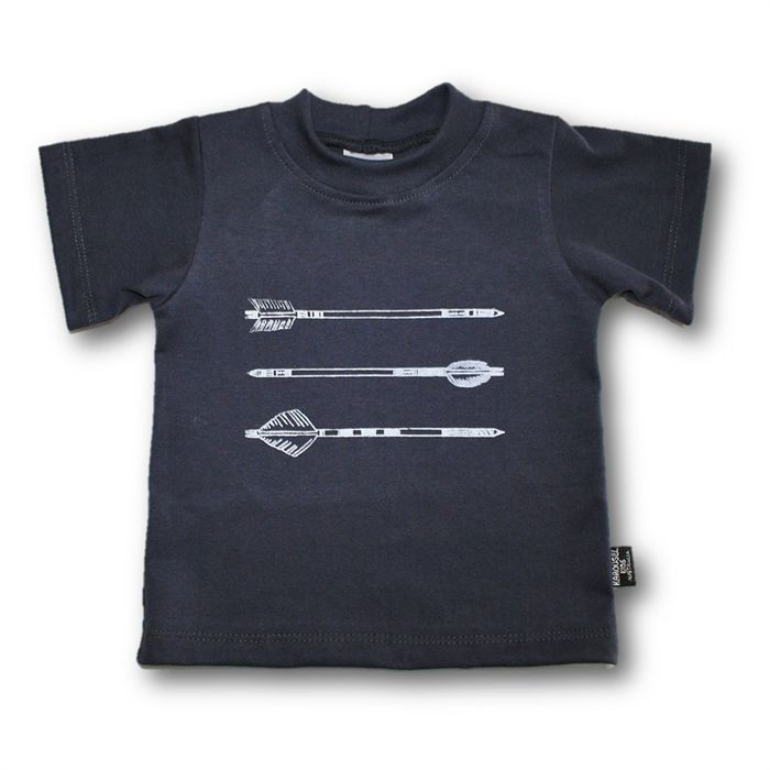 SIZE 1 Storm Hand printed Arrow Tee