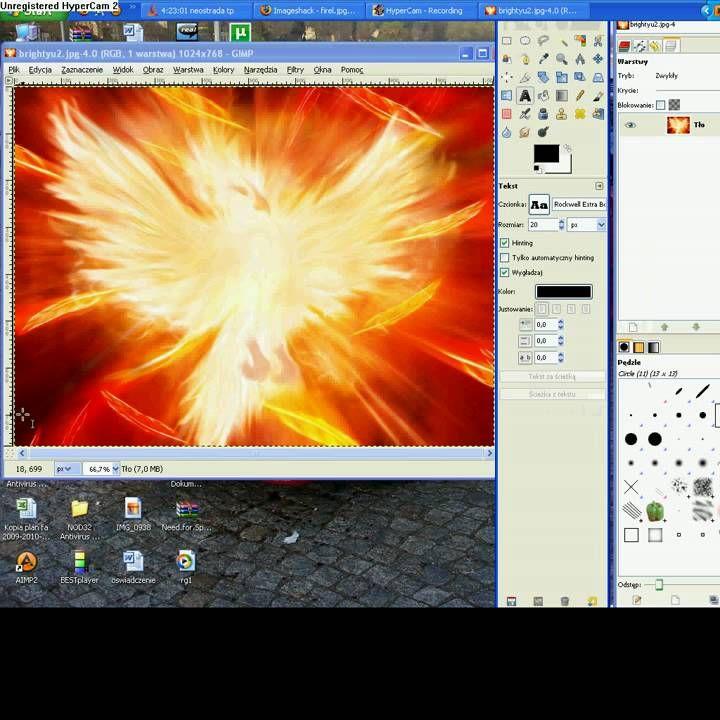 Szybki i Prosty sposób na przezroczysty napis w programie GIMP 2.6