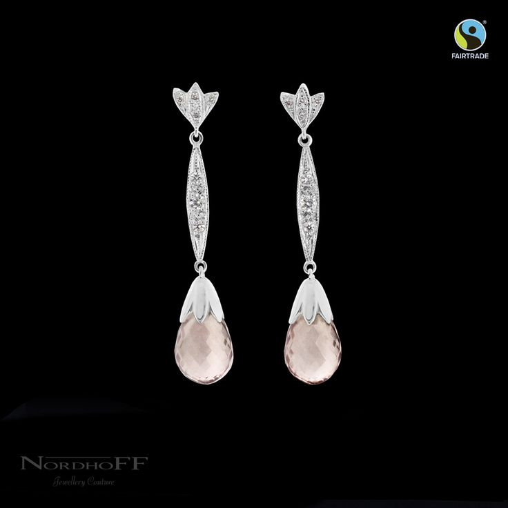 Our stunning bridal earrings, featured by Fairtrade Australia.