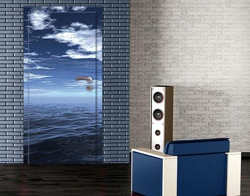 15 best Türtapeten Door wallpaper images on Pinterest Photo - badezimmer fliesen ideen schwarz weiß