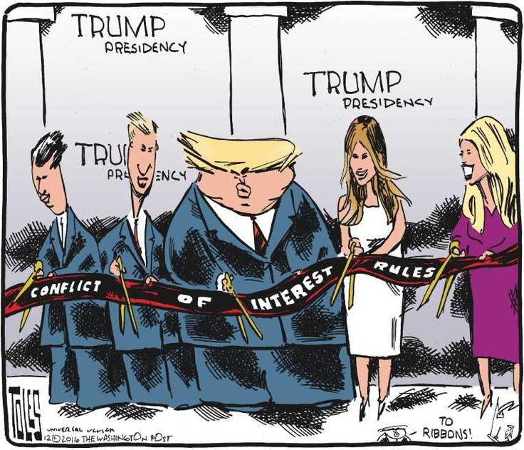 Image result for trump conflict of interest cartoon