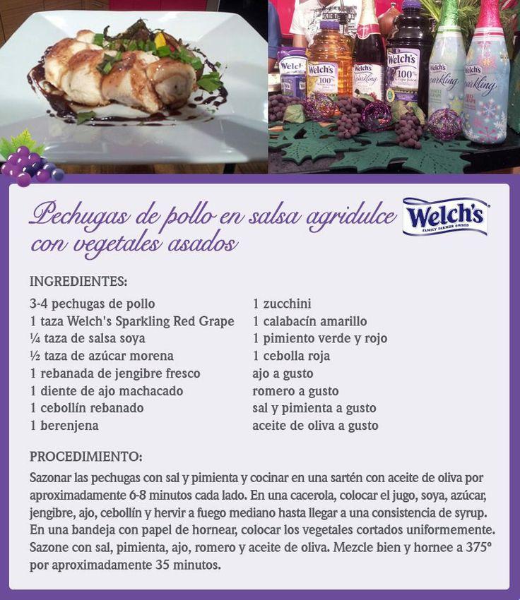 Receta de pechugas en salsa agridulce por Chef Piñeiro.
