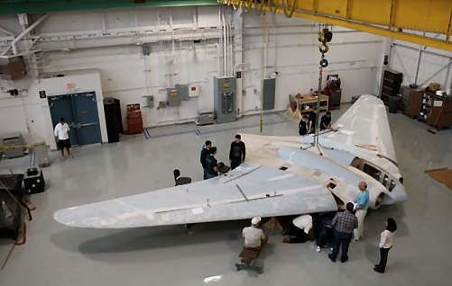 Only surviving, restored Horten Ho 229 at Steven F. Udvar-Hazy Center before final touches and painting.