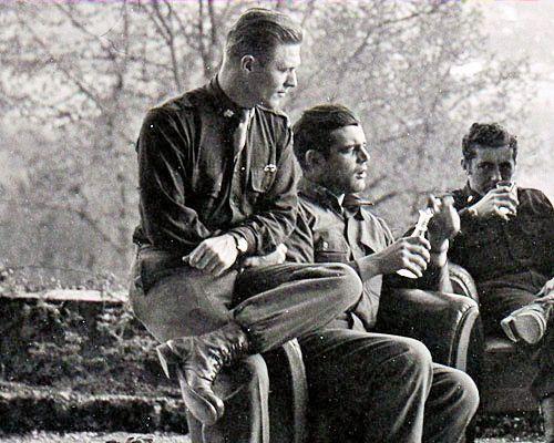 Band of Brothers - Major Dick Winters, Captain Lewis Nixon  Lieutenant Harry Welsh, Austria, 1945