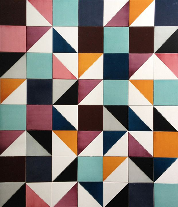 Beautifully patterned tiles - Would love to have these in my kitchen!