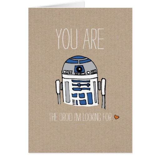 You are the droid I'm looking for R2D2 card