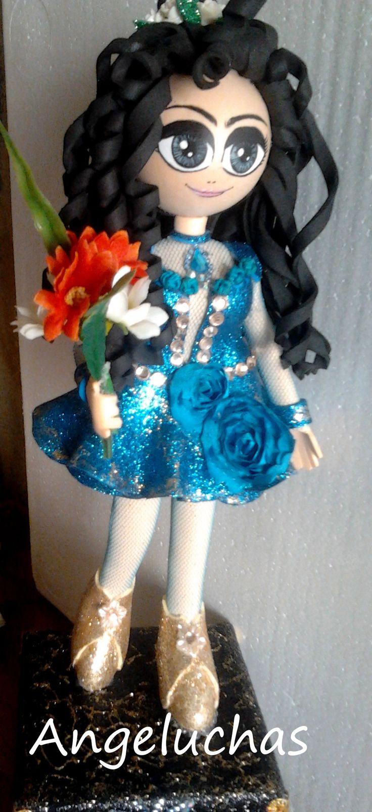 Fofuchas angeluchas: Muñecas fofuchas artesanales y personalizadas: Celeste.