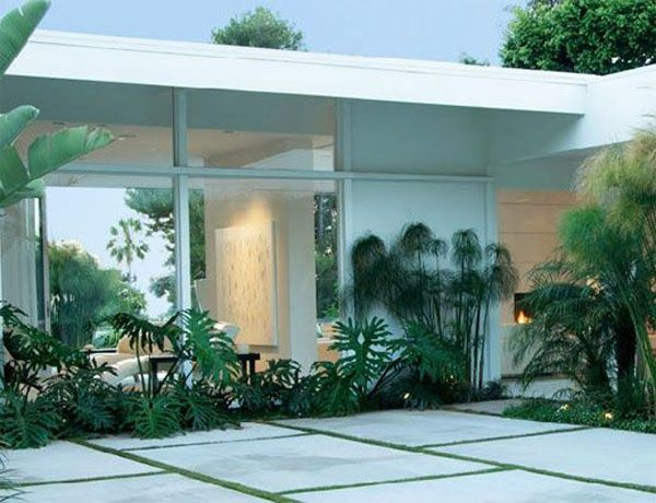 ... And the use of green/more architectural plants and foliage. The Aestate: palm springs style
