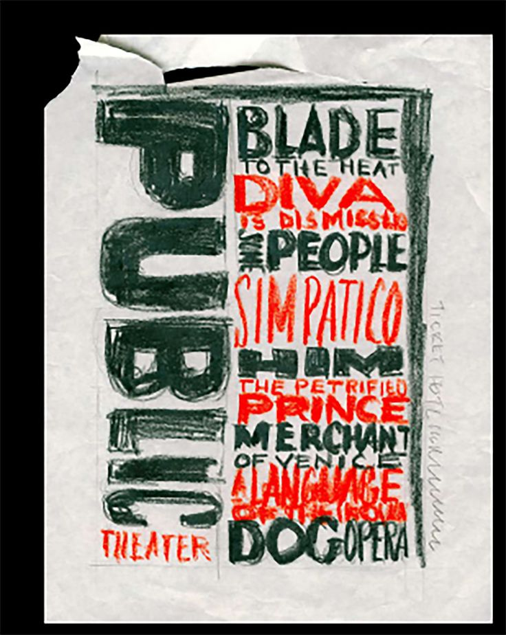 How Paula Scher works #2: On designing for The Public Theater in New York - Creative Review