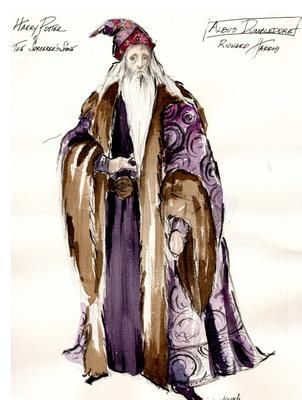 Headmaster Dumbledore in Harry Potter and the Sorcerer's Stone; designed by Judianna Makovsky