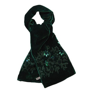 This is quite hard to see but the velvet is an amazing rich emerald green and the hand embroidered and sequinned detail is stunning.