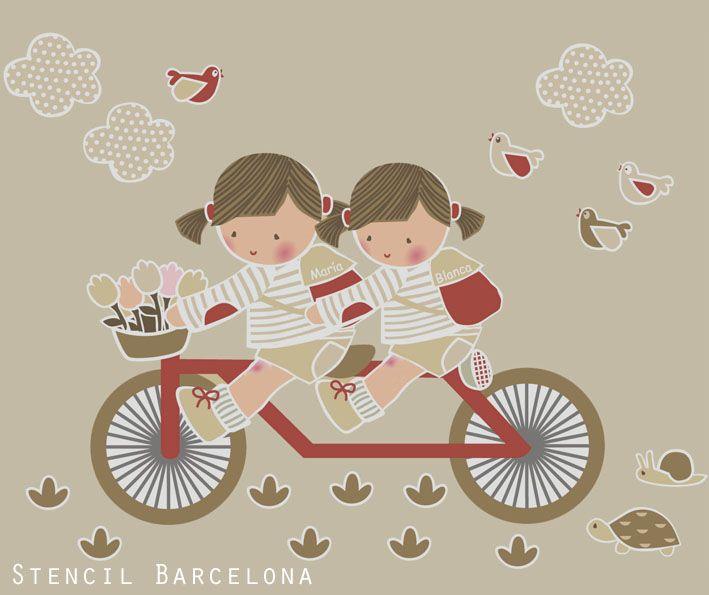 Vinilos infantiles personalizables de #stencilbarcelona.