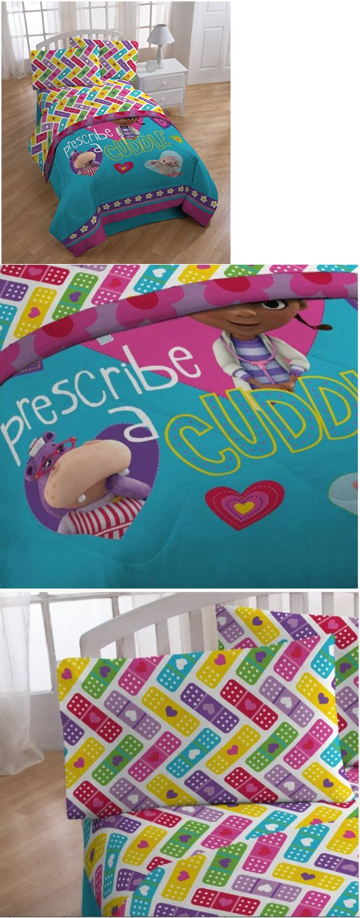 Kids at Home: Girls Bedding Set Cartoon Disney Doc Mcstuffins Bedroom Sheets Kids Blankets New BUY IT NOW ONLY: $35.78