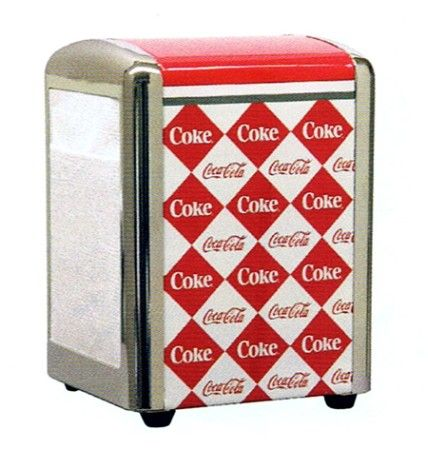 HTD Canada Coke 1/2 Size Napkin Dispenser Coke 1/2 Size Napkin Dispenser * napkins not included but are available on our website