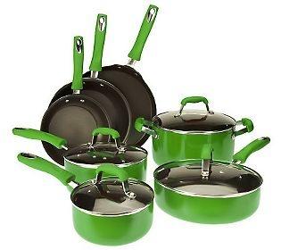 Guy Fieri 11 piece Nonstick Enamel Aluminum Cookware Set