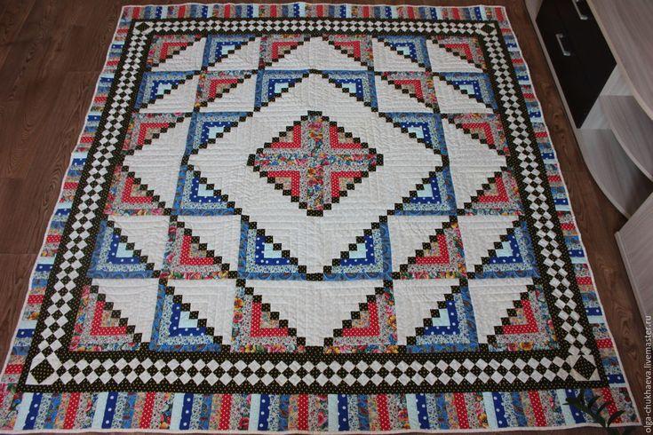 """Купить Лоскутное одеяло/покрывало """"Русское"""" (215х205) - комбинированный, лоскутное шитье, лоскутное одеяло, лоскутное покрывало"""
