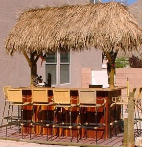 Build your own tiki bar tiki hut tiki bar pinterest for Build your own patio bar