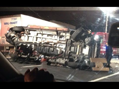 Tracy Morgan Bus Crash | Comedian Tracy Morgan Multi-Car Crash RAW FOOTAGE