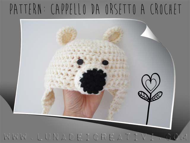 cappello orsetto crochet