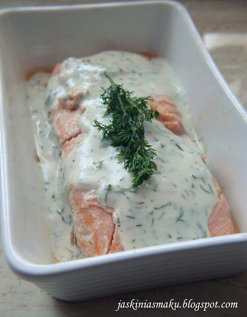 Łosoś w sosie koperkowym - Salmon in a dill sauce
