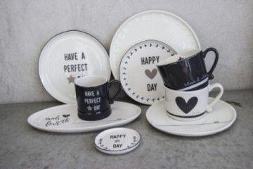 Bastion Collection - Servies, Sfeerimpressie, Have a Perfect day, Happy Day, Mokken, Borden - Bloemsierkunst Rutten Budel