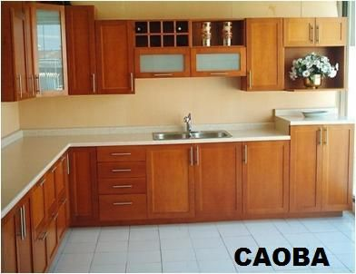 Cocinas integrales madera modernas inspiraci n de dise o - Disenos de cortinas para cocina ...