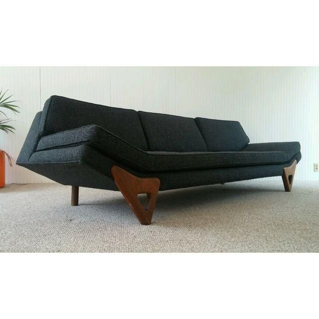 Plain Modern Couch Wood Adrian Pearsall Midcentury Sofa S Throughout Design Ideas