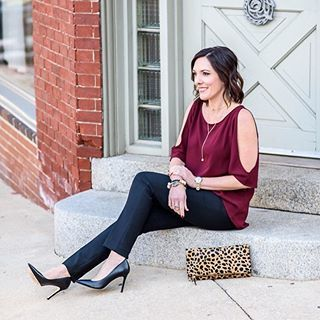 This holiday party look is coming to the blog later this week.💕What!?! Doesn't everyone plop down on some random city stoop in their dressup clothes for pictures? 😂 // Shop my party ready look here first: http://liketk.it/2pEEw @liketoknow.it #liketkit #ltkholidaystyle #partyready #fashionover40 #coldshouldertop