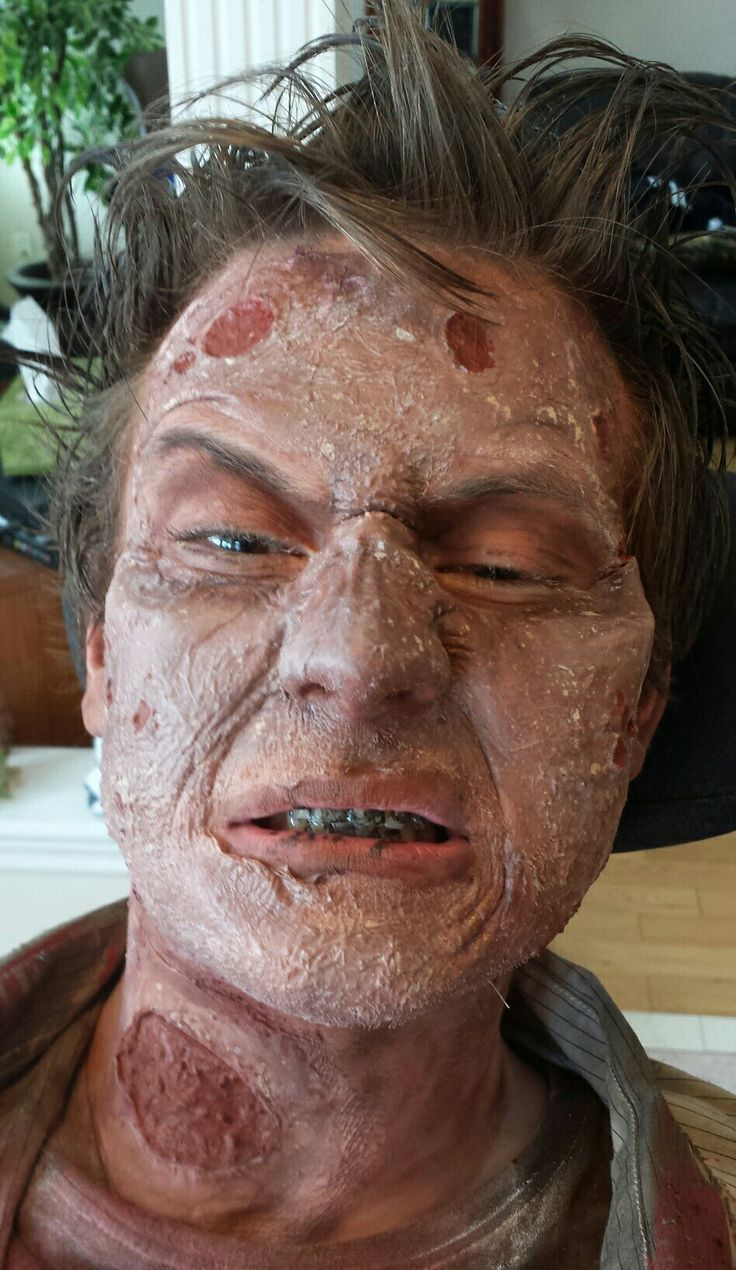 Zombie make up by Mark McGrath