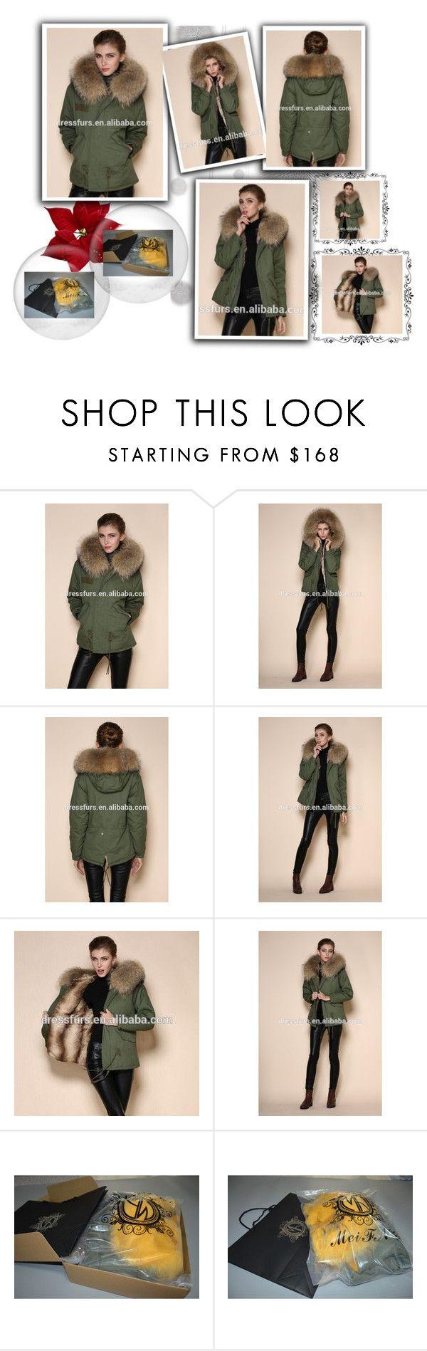 """outstanding design overcoat soft touching rex rabbit jacket ladies parka coats"" by dressfurs on Polyvore featuring Komar, rabbitfur, womenparka, jackat and softshelljacket"