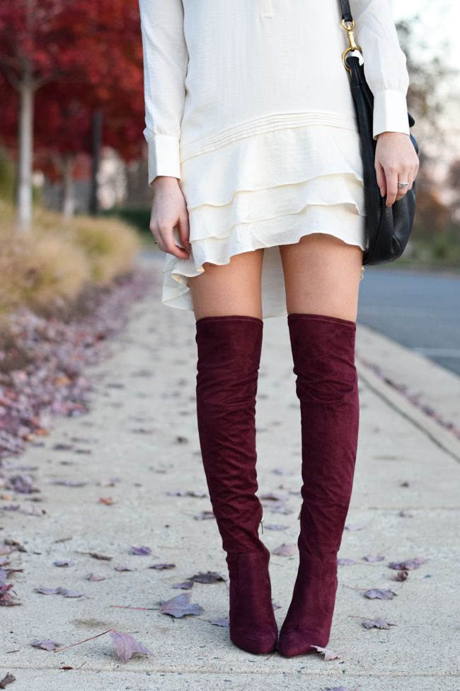 little styled life: Burgundy Over the Knee Ivanka Trump Boots
