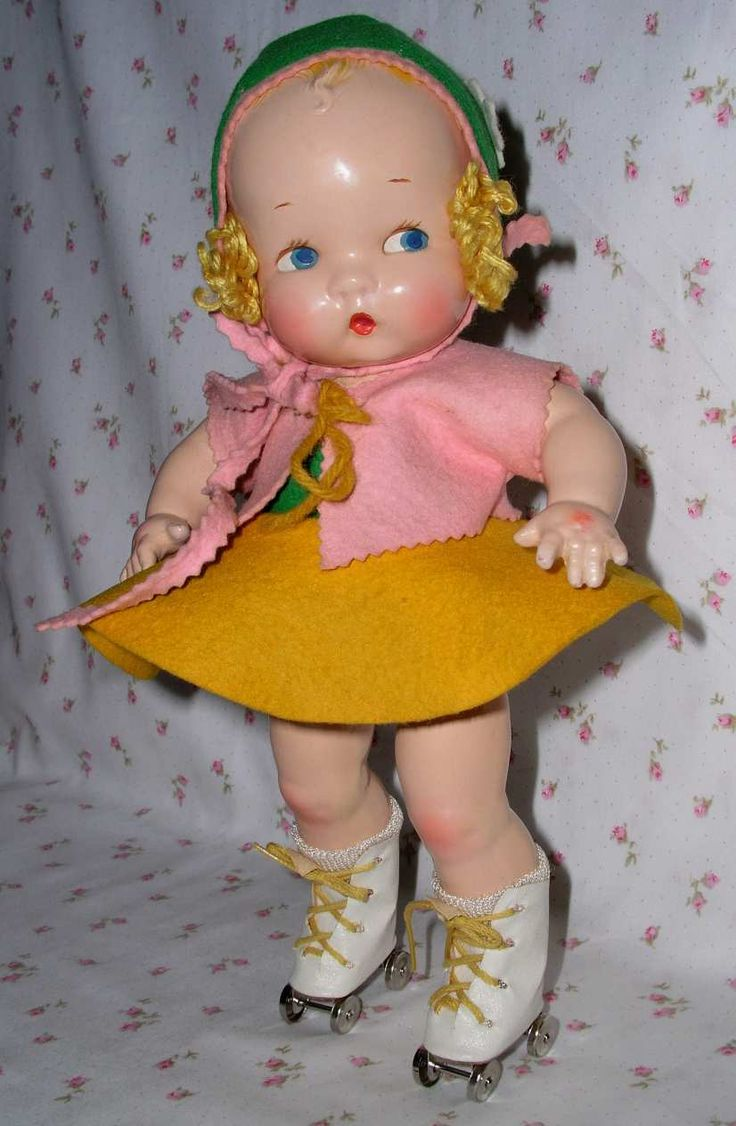 1937 Harriet Flanders Composition Cherub Baby Doll...just ADORABLE!