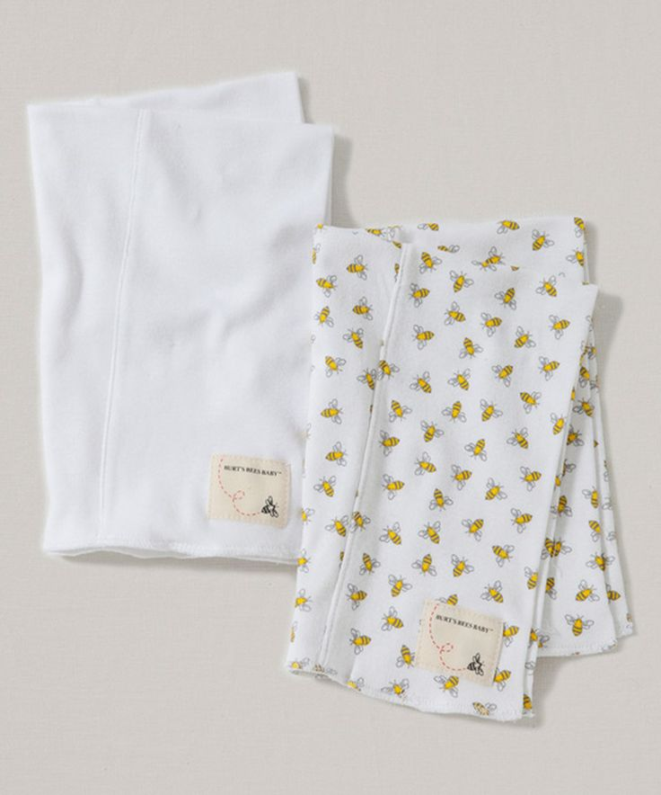 Another great find on #zulily! Cloud Organic Burp Cloth - Set of Two by Burt's Bees Baby #zulilyfinds