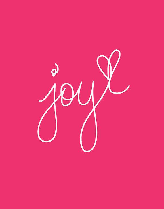 Typography Print Motivational Wall Decor Joy by TheMotivatedType  Trying to get some joy back in my life.