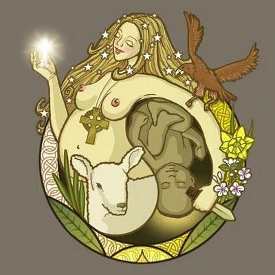 SOBRE:  Ostara, também conhecida como Eostre (Deusa Anglo-Saxã, que significa Deusa da Aurora) ou Easter (Pascoa, em inglês), pois a pascoa no hemisfério norte é realizado nesta época, são deusas da primavera, da ressurreição e renascimento e tem como símbolo o coelho.