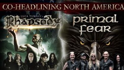 """LUCA TURILLI'S RHAPSODY And PRIMAL FEAR To Join Forces For North American Tour LUCA TURILLI'S RHAPSODY And PRIMAL FEAR To Join Forces For North American Tour        Italy's  LUCA TURILLI'S RHAPSODY  and Germany's  PRIMAL FEAR  will embark on a North American co-headlining tour next spring. The trek will kick off at a very special show on April 28 at Stage 48 in New York City. Pre-sale tickets for the New York date are now on sale.        """"We are all extremely excited and looking forward to…"""