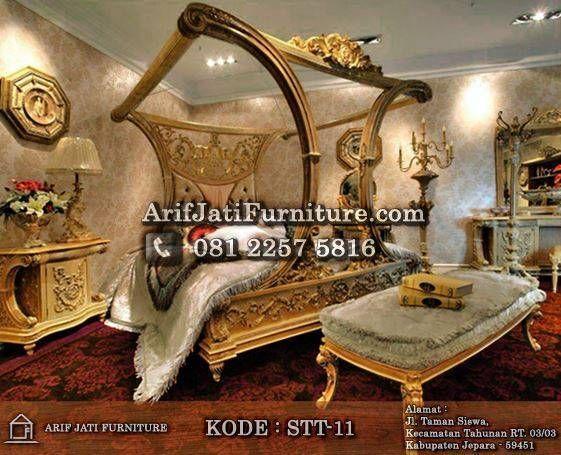 Set kamar tidur kanopi cleopatra mewah set kamar tidur for Cleopatra bedroom set
