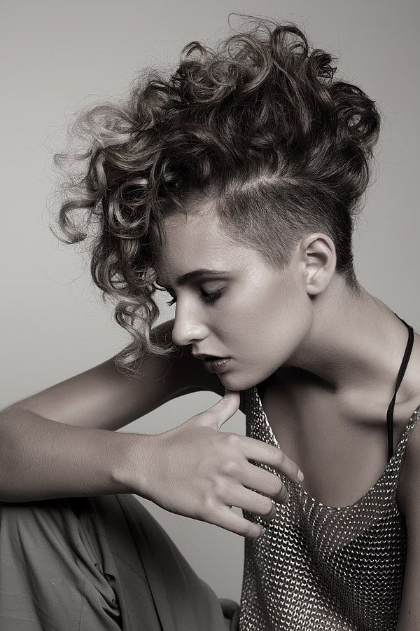 25 Exquisite Curly Mohawk Hairstyles for Girls and Women                                                                                                                                                                                 More