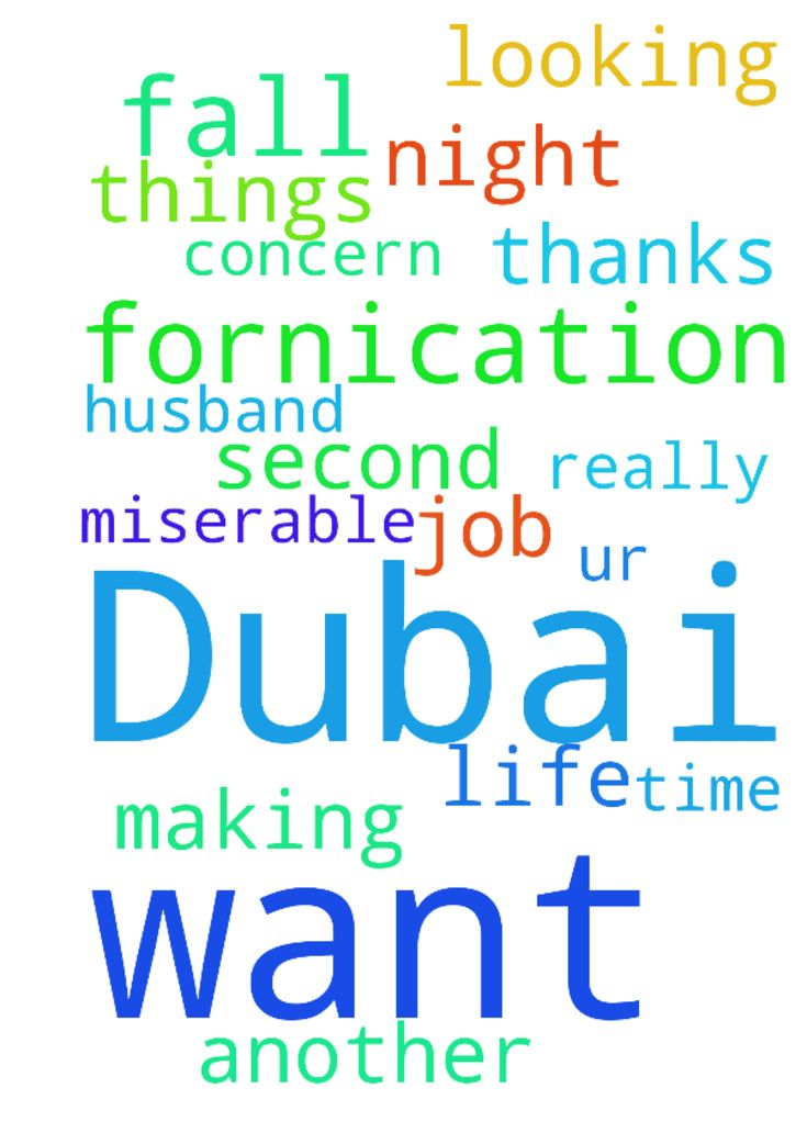 My prayer request, am in Dubai, I don't want to fall - My prayer request, am in Dubai, I dont want to fall into fornication the second time, I really need ur prayers on fornication n night husband. These are the things that are making life miserable for me and am also looking for another job. Thanks for the concern Posted at: https://prayerrequest.com/t/IxB #pray #prayer #request #prayerrequest