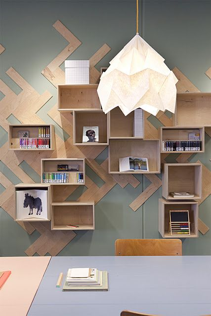ATELIER RUE VERTE , le blog: Pays Bas / Couleurs tendres pour une librairie-café /
